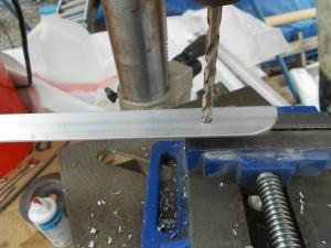 Drilling Aluminium for Cantilever Solar Panel Mount