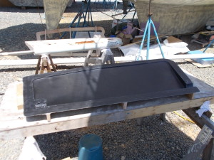 Completed 1st half of female rudder mold