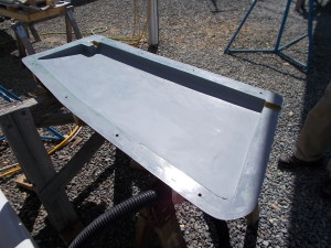 Completed 2nd half of female rudder mold