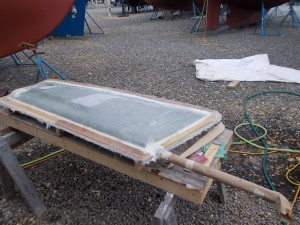 Laminated 2nd half of rudder mold