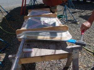 Ribs added to rudder mold