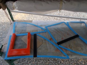 More Parts Outlined on Waxed Window Glass